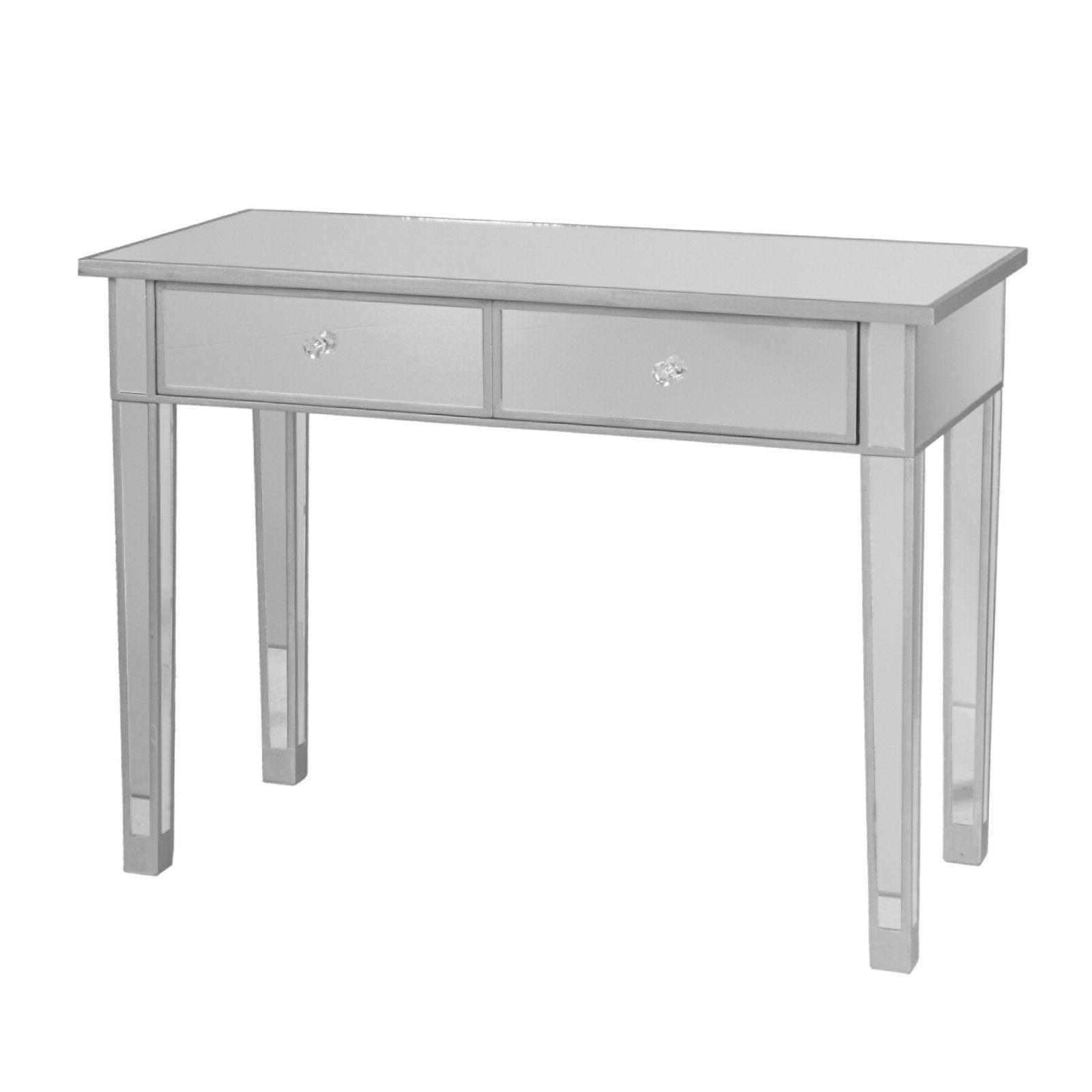 CMT36919 SILVER DRAWERS TABLE