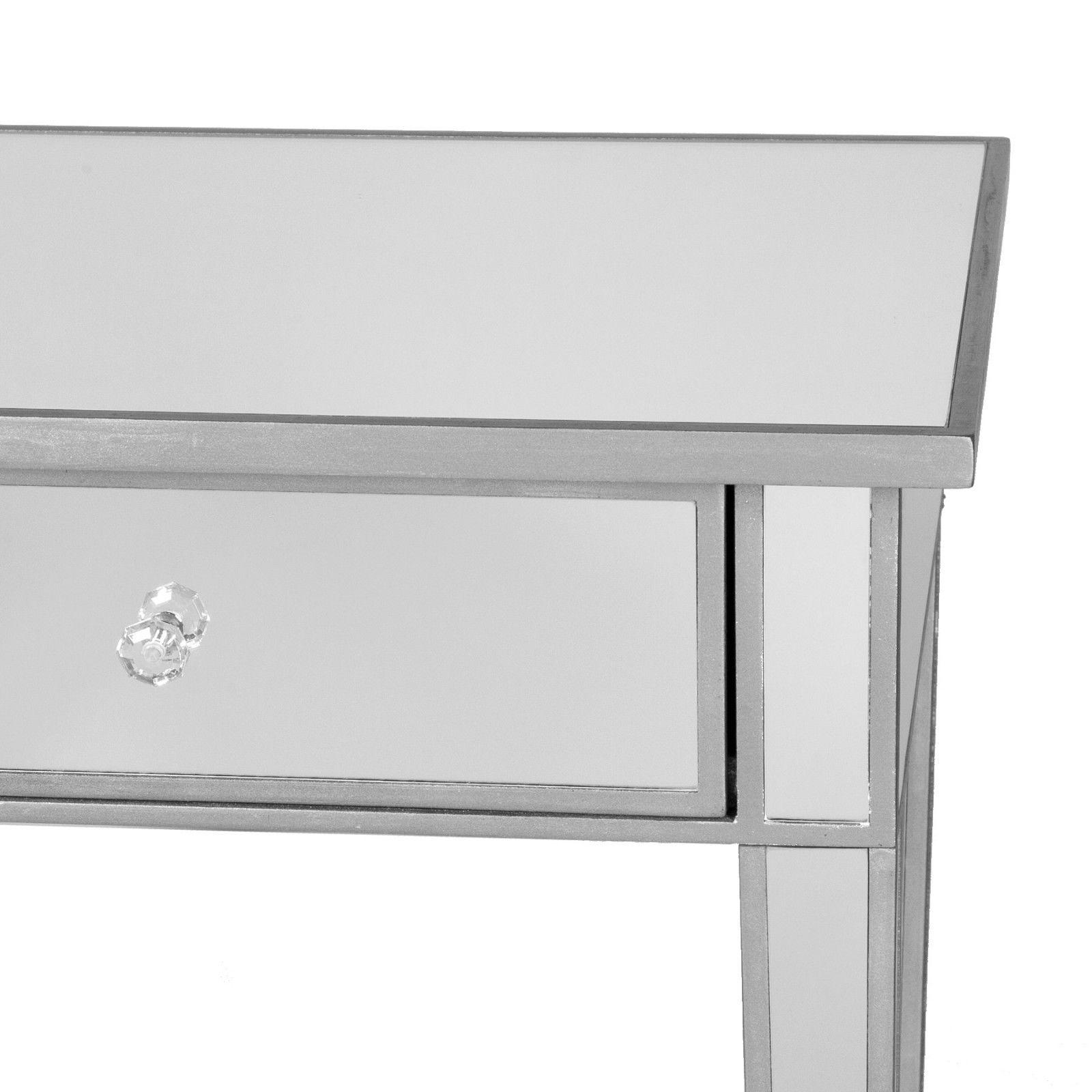 CMT36919 SILVER DRAWERS CONSOLE TABLE