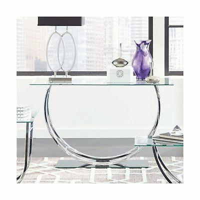 Coaster 704989-CO Glass Console Table,
