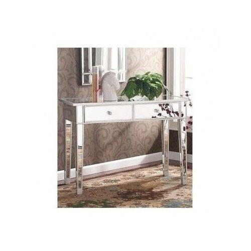Hollywood Vanity Mirror Console Furniture Accent Table For E