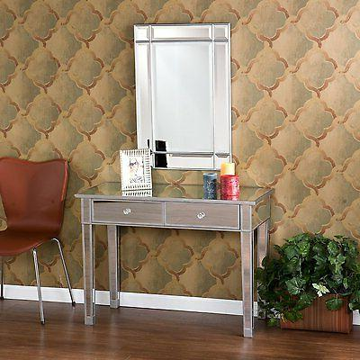 Mirrored Vanity Table Console Mirror Glam Drawers Hallway Be