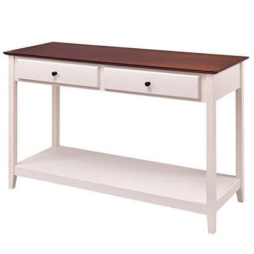 console sofa table wood entryway
