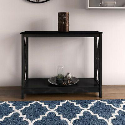 Console Table Accent End Stand Entry Way Hallway Wood Shelf Display