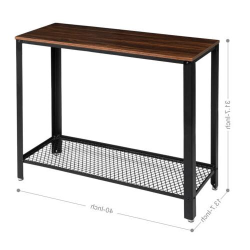 Console Table Table with Shelf Wood New