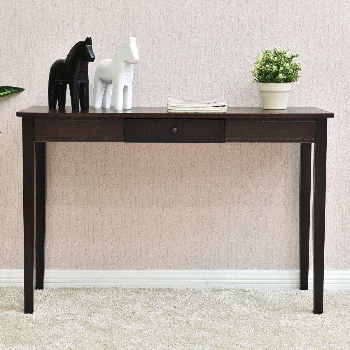Console Entry Entryway Side Sofa Table Wood