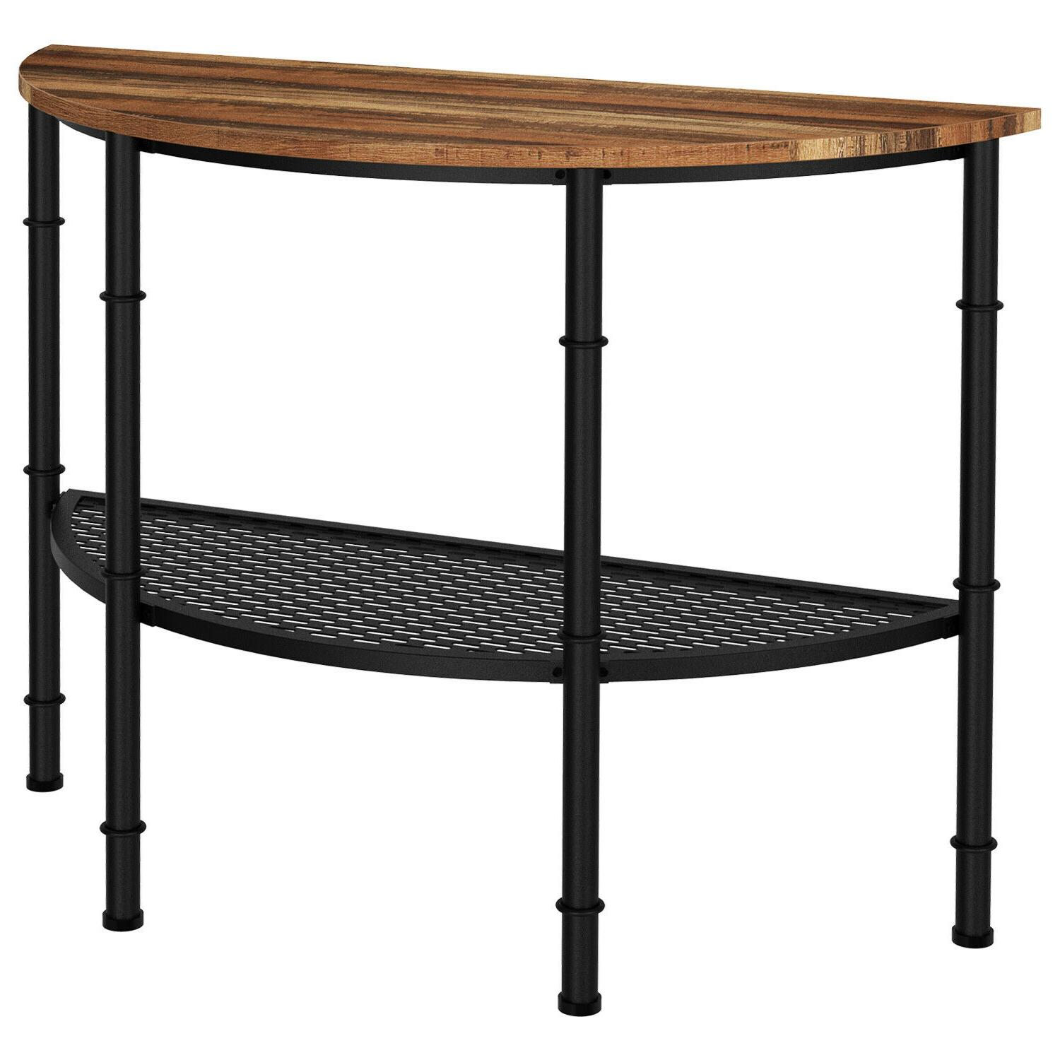 IRONCK Table Industrial Entry Table Shelf,