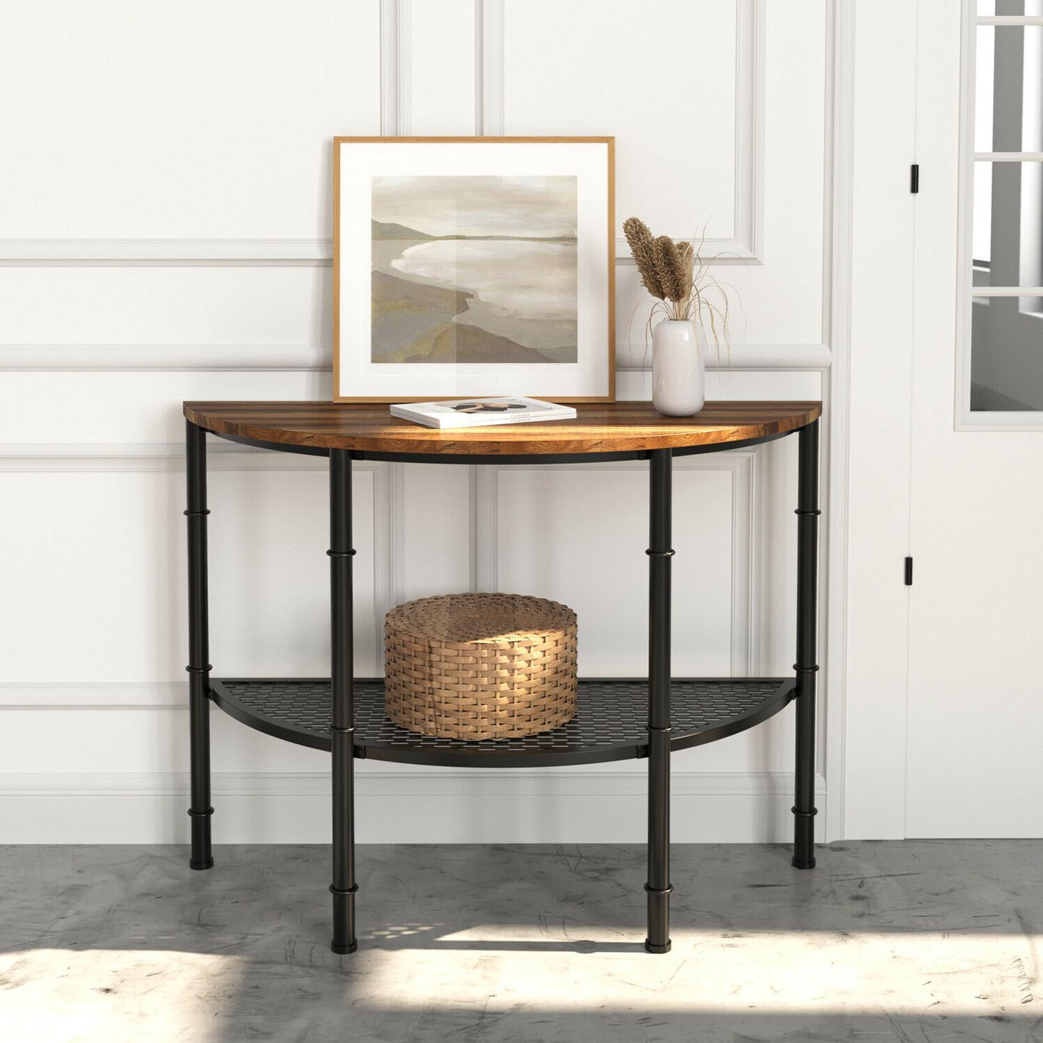 console table entryway industrial entry table