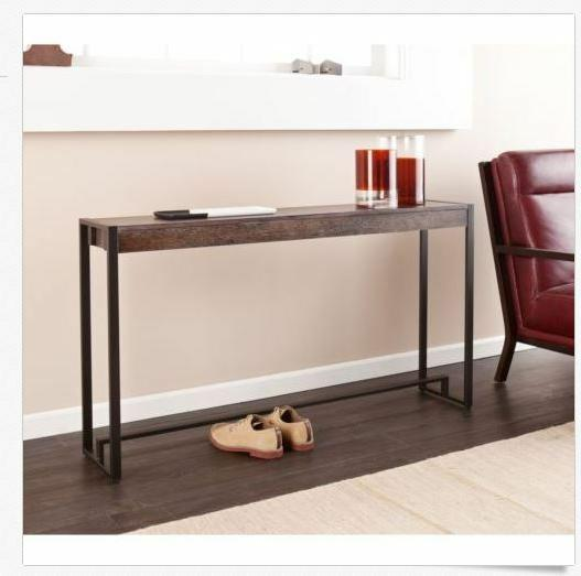 console table furniture living room wood metal