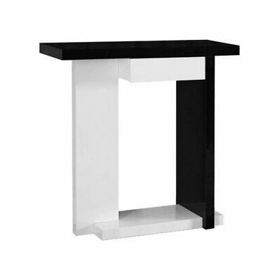 console table glossy white