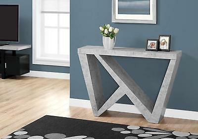 console table gray cement look