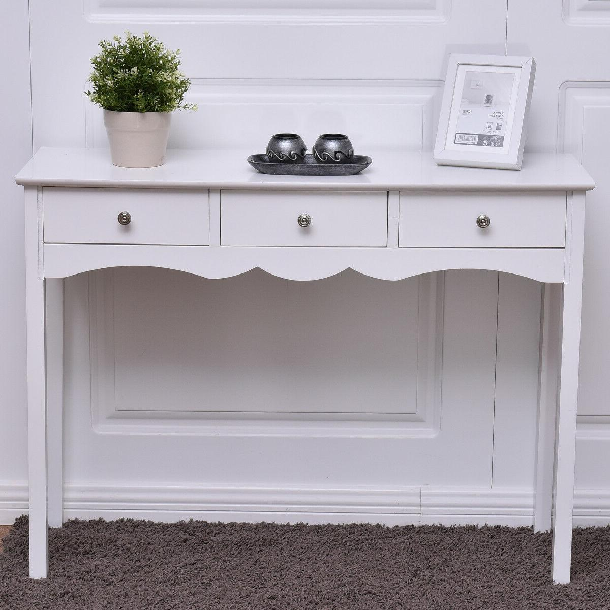Console Hall Side Table Entryway Accent Table White