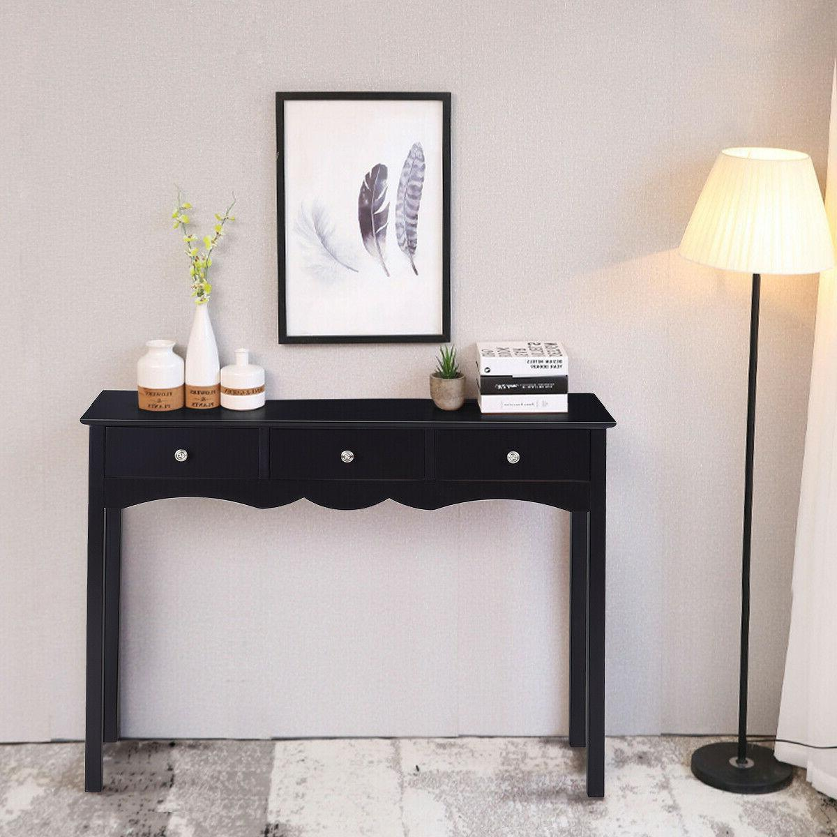 Console Table Side Table Accent Table w/3 Drawers