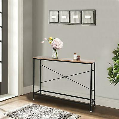 Wood Console Table Sofa Entryway Hallway Hall Furniture Home