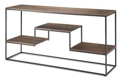 console table in light walnut brown
