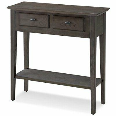 console table in smoke gray