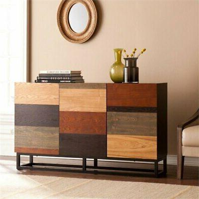 console table in wood and black