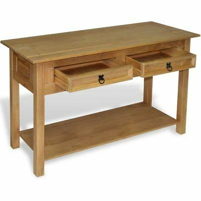 vidaXL Console Table Pine Drawers Side End Desk