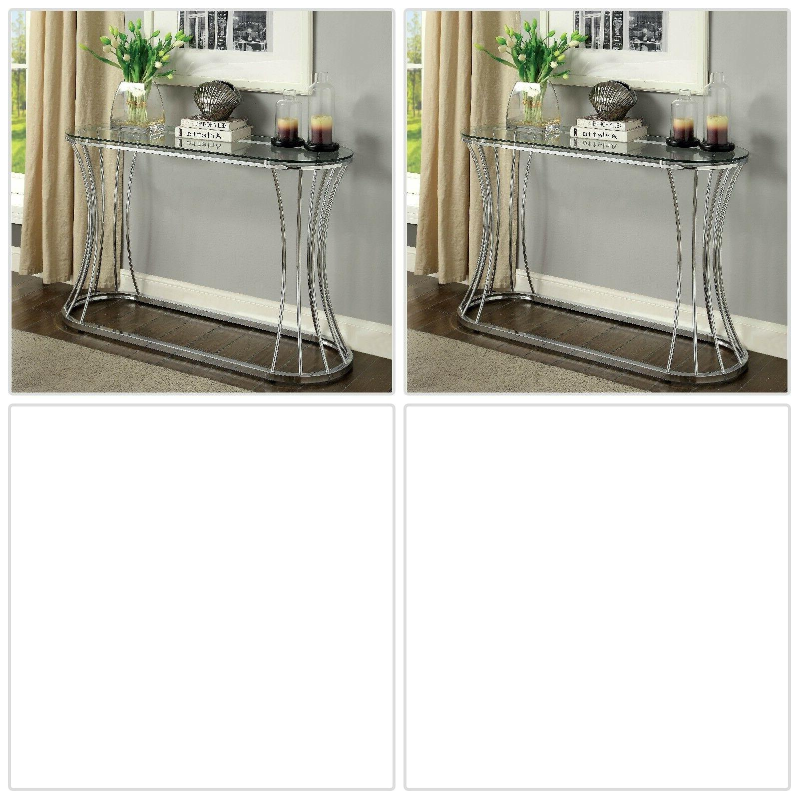 Console Table Modern Oval