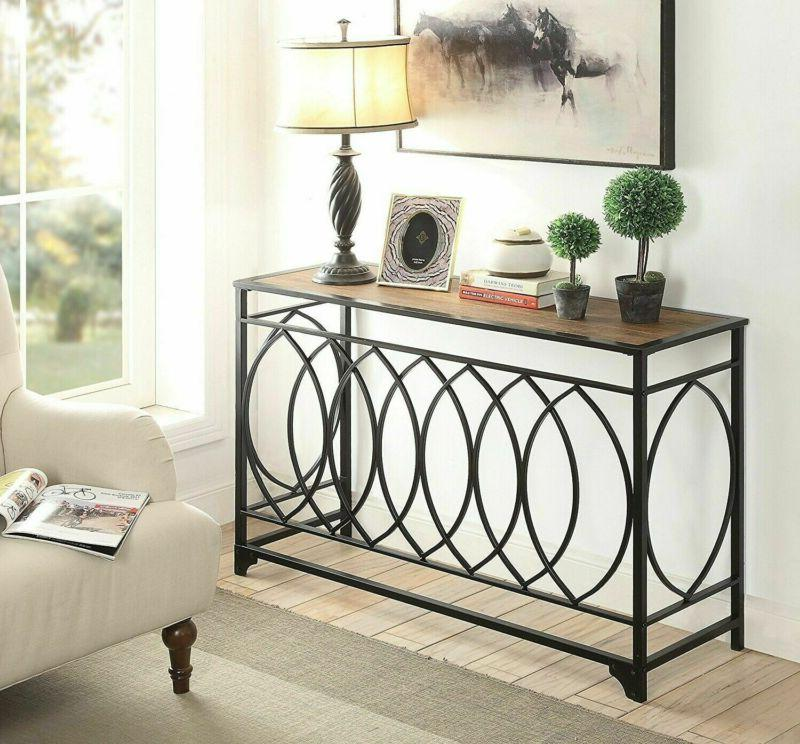 console table rustic furniture vintage accent brown