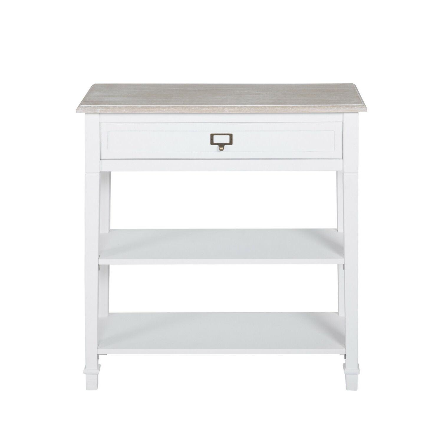 Console w/ Drawer and Tier Storage Entryway White