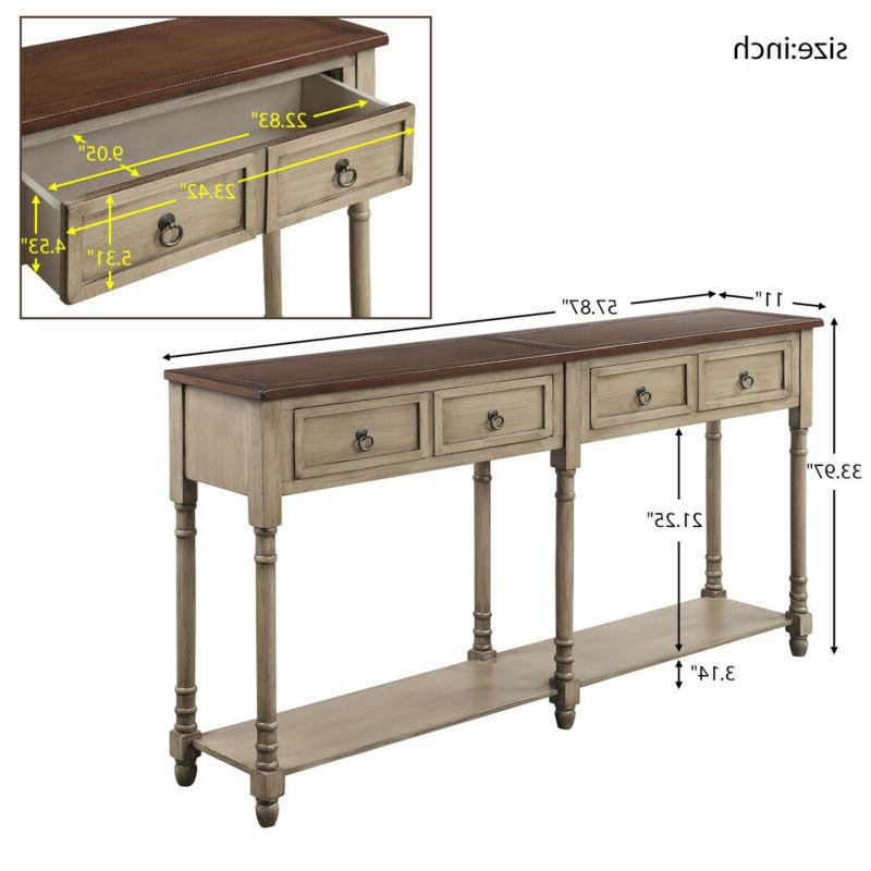 Console Table Table with Entryway
