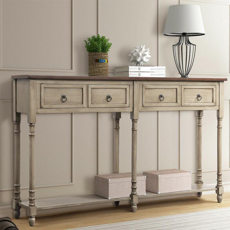 console table sofa table with storage console