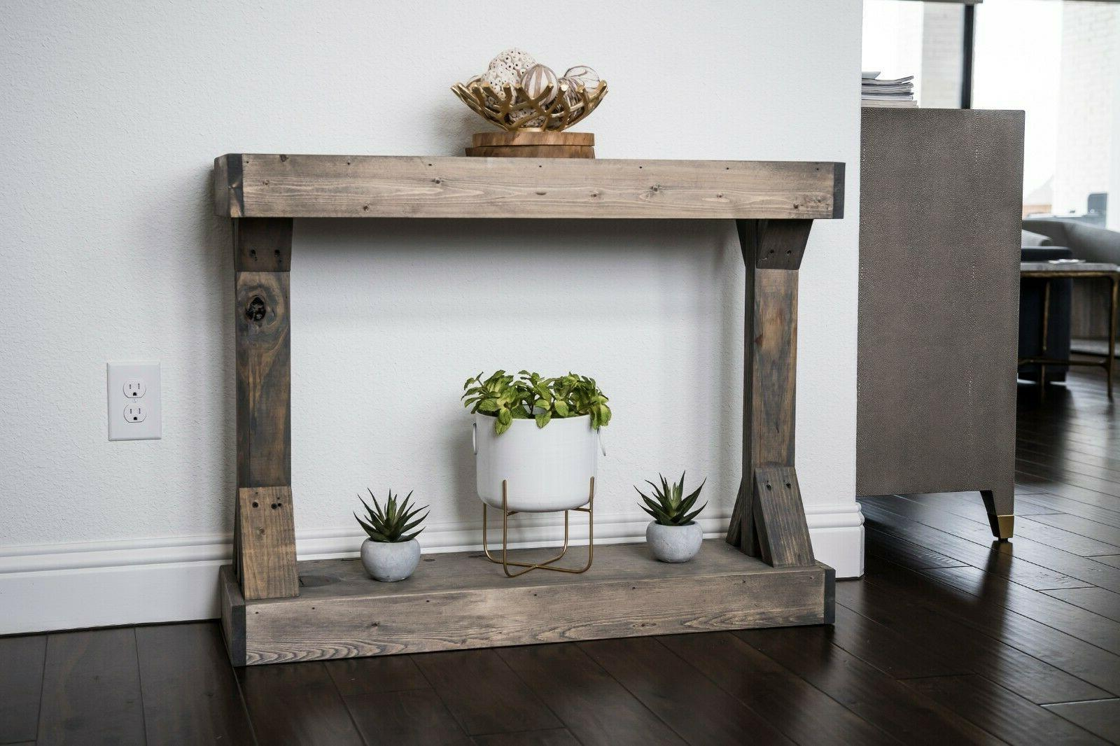 console table solid wood centerpiece stage entryway