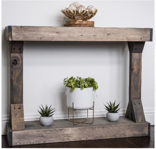 Console Table Centerpiece Stage Frame Shelf