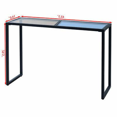 Console Table Top Metal Frame Entryway
