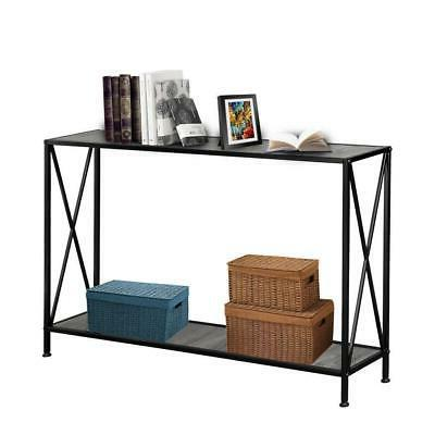 Console Table Vintage Stand Display Storage Black