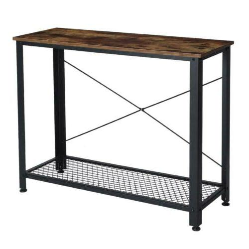Metal Console Table Entry Way Hallway Display Sofa Table Acc