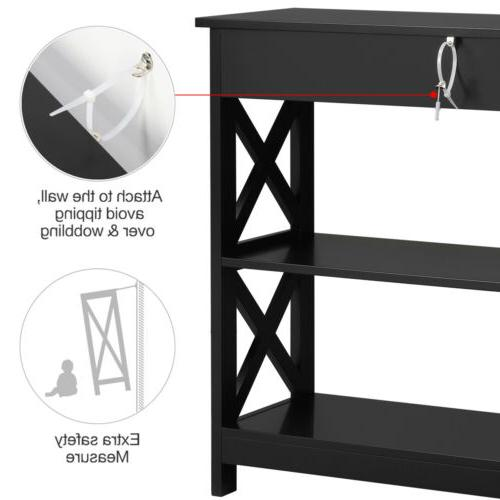 Sofa Console Table with Drawer Storage Accent Table