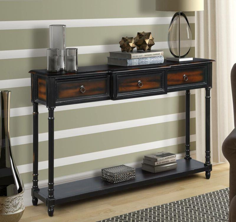 Console Table Wood Entryway Sofa Living Furniture Luxurious