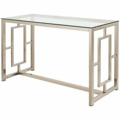 cont gls sofa table satin