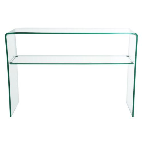 Contemporary Glass Console Table Sideboards Cupboard Living