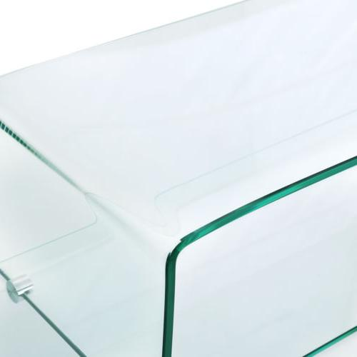 Contemporary Clear Console Table Living