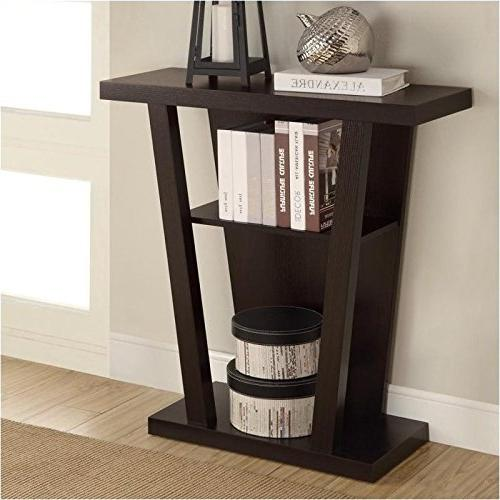 Contemporary Style Table in Cappuccino by