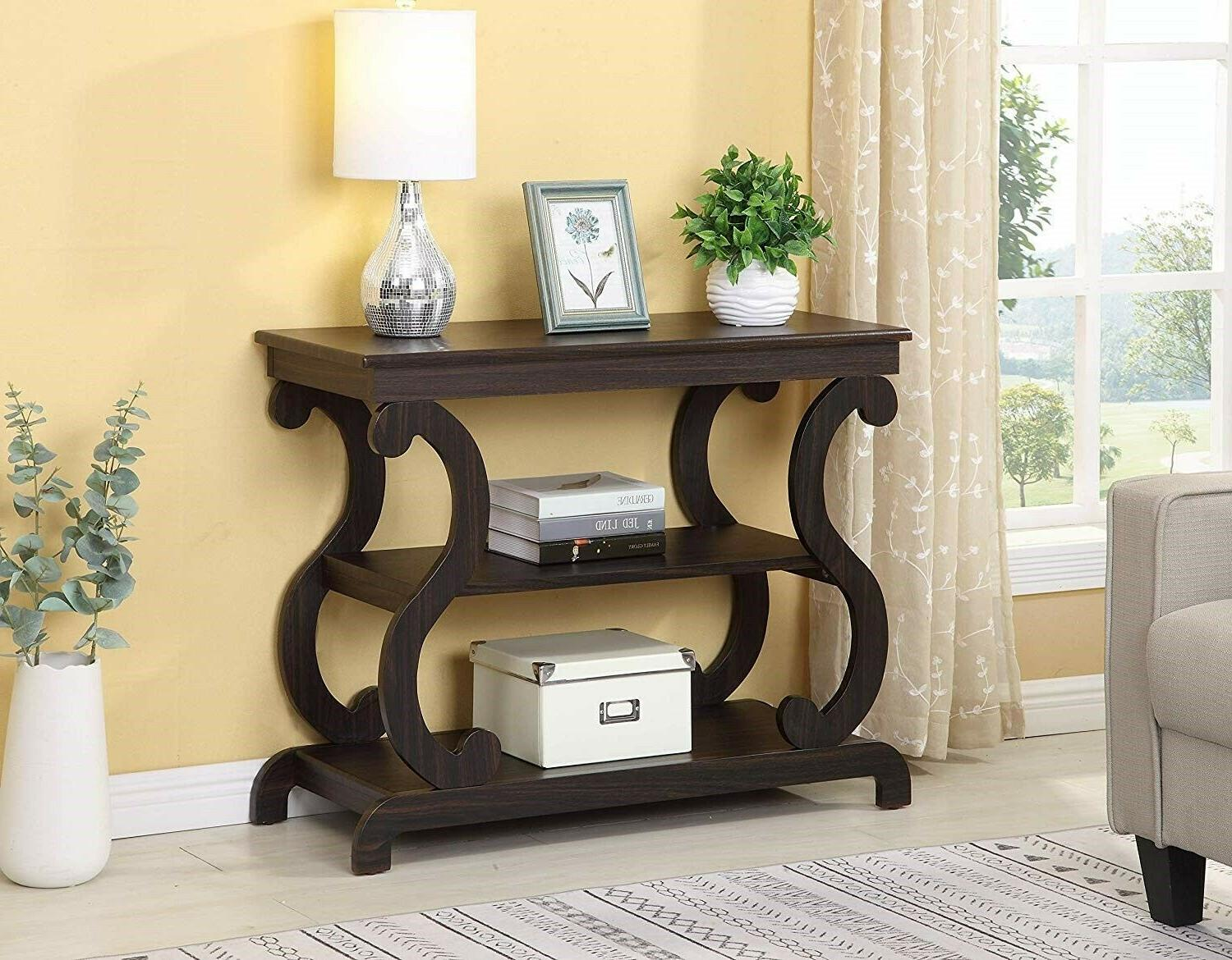 contemporary console table furniture living room modern