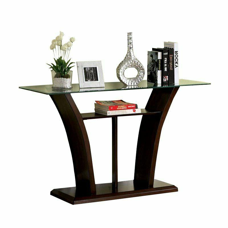 Furniture of Contemporary Lantler Glass Table in