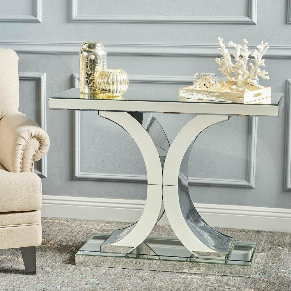 Mirrored for Entryway Living Desk Furniture