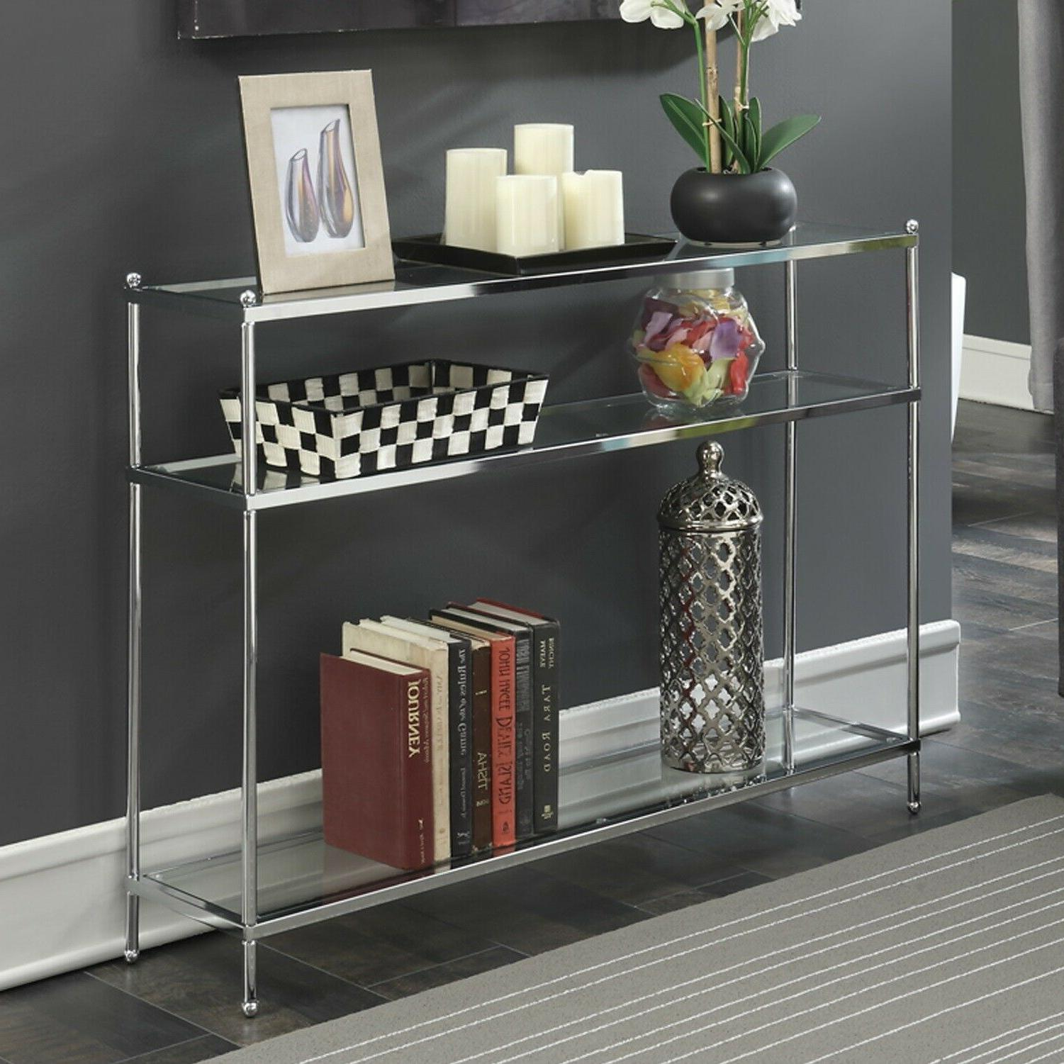 contemporary narrow sofa end console table 3