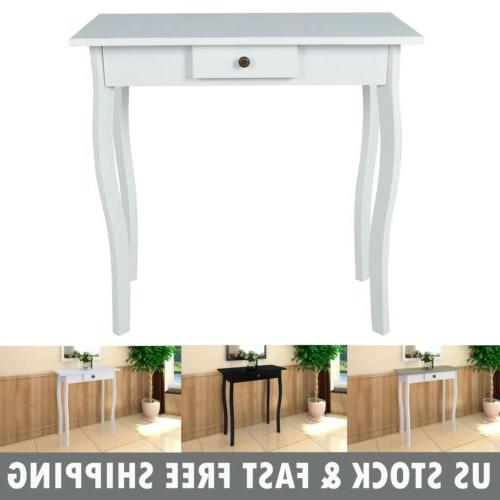 cottage console table entry hallway end side