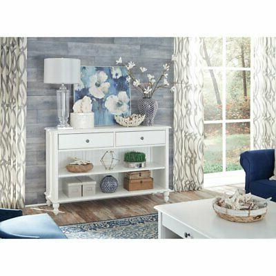 cottage rectangular console table