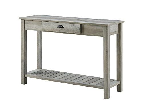 country gray wash entry console