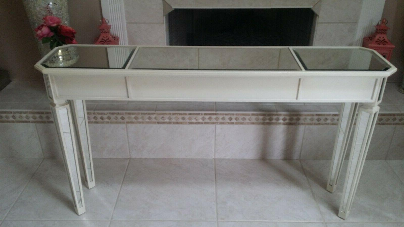 **Pier CREAM MIRRORED OVAL TABLE & TABLE...NWT!