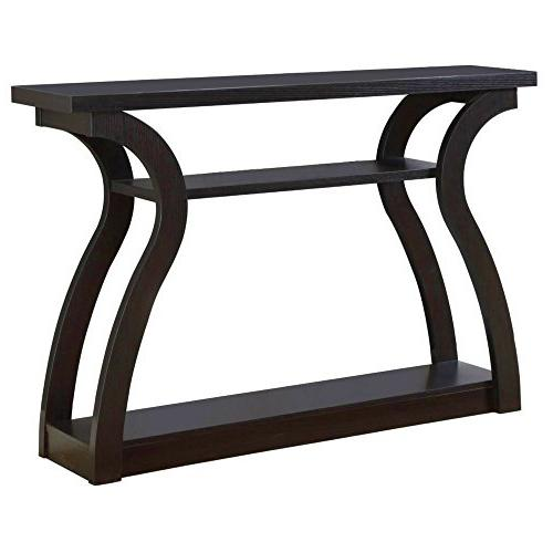 curved entryway table wood console