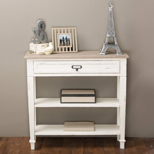Baxton Studio Dauphine Traditional French 1-Drawer Accent Co