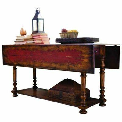 drop leaf console dining table