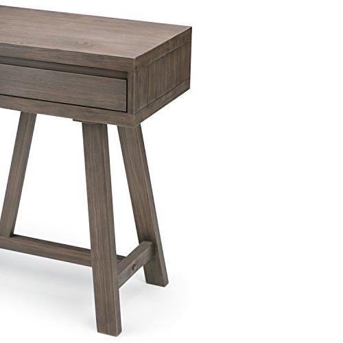 Simpli Dylan Solid Wood Console Table, Driftwood