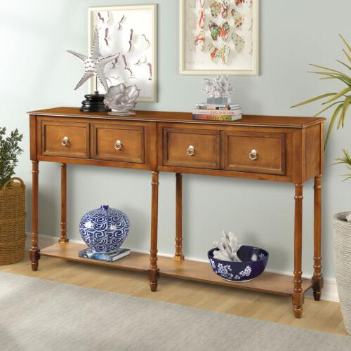 edolie console table wood entryway sofa accent